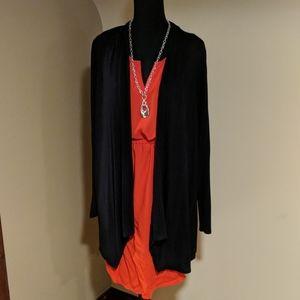 Long lightweight black cardigan